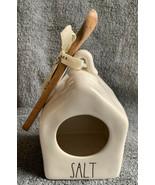 Rae Dunn SALT Salt Pig with Wooden Spoon Crock Cellar NEW HTF '20 - $19.99