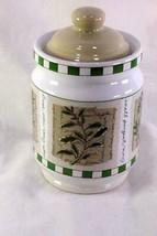 "Himark Savory Tyme Medium Coffee Canister 6 3/4"" - $10.39"