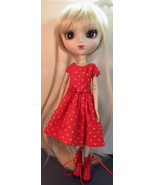 Pullip Jenny Momoko size Handmade Hearts and Roses Doll Dress - $19.97