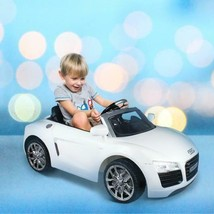 12V Electric Ride On Car With MP3+RC Audi R8 Spyder Kids Toy White Color... - $259.99