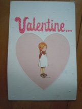 Vintage American Greetings Holly Hobbie Valentine Card - $5.99