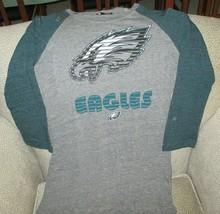 Philadelphia Eagles NFL Team Apparel Women's Gray & Green Longsleeve Shi... - $26.68