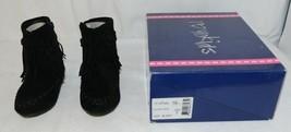 I Love Yo Kids AVA 92T Girls Fringe Boot Black Zip Up Size Seven image 1