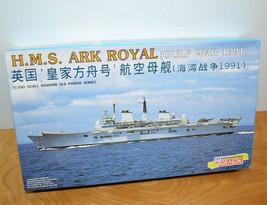 Vintage DRAGON H.M.S. ARK ROYAL Model Kit Military Battleship Gulf War 1... - $30.95