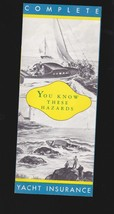 Complete Yacht Insurance 1950s Aetna brochure  - $12.00