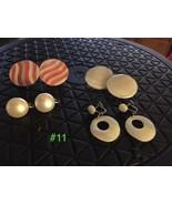 Vintage Clip Earrings - 4 Pairs  Lot #11 - $16.34