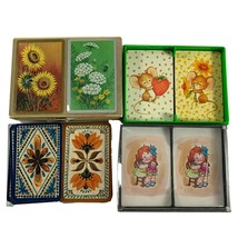 Lot Vintage Playing Cards Hallmark Sunflowers Mice Campbells Soup Girl F... - $15.83