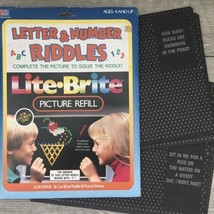 Vintage Lite Brite Letter And Number Riddles Picture Refill Pack 36 Unused Sheet - $24.74