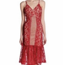 Red  Lace Dress Size M Romeo & Juliet Couture Wedding Guest Evening Prom... - $41.58