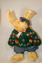 Boyds Bears: Sarah Rabbit - 9 inch Plush - Sweater, Jeans, Bow and Pink Ribbon - $14.78