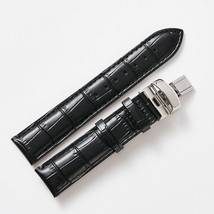 20mm Black Leather Watch Strap Band With Buckle Made For Seiko PRESAGE S... - $48.38