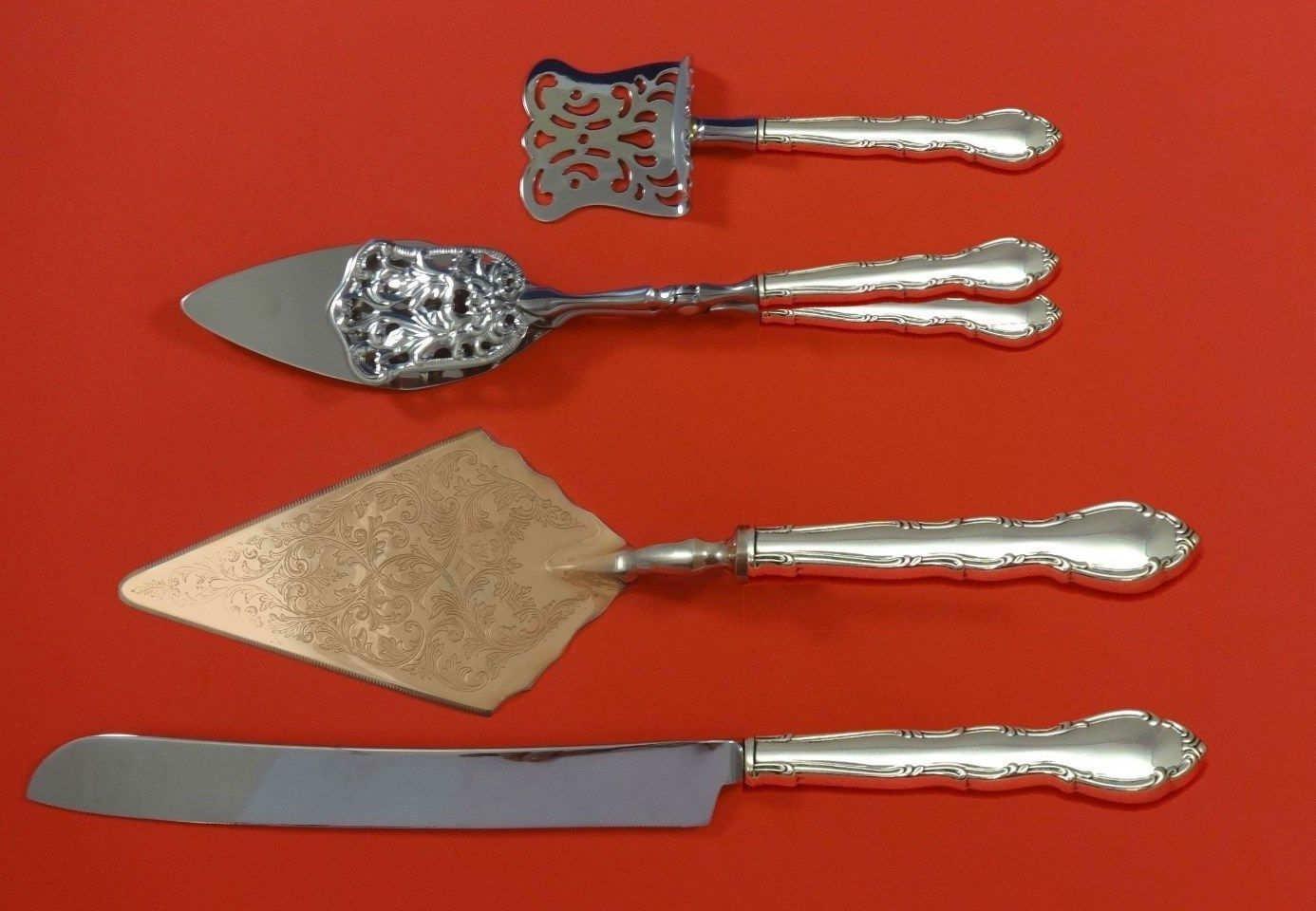 Primary image for Andante by Gorham Sterling Silver Dessert Serving Set 4pc Custom Made
