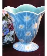 Vintage Beswick Pottery Floral Fan Shaped Vase 844-1, 1930s -1950 Art Po... - $149.99