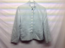 Ladies Christian Dior Light Green Worsted Wool Skirt Suit Sz 4