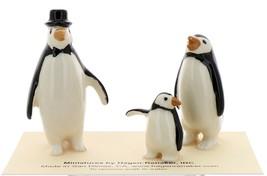 Hagen-Renaker Miniature Ceramic Bird Figurine Penguin Family Set image 1