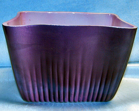 Primary image for Vintage Pink and Black Rectangular Planter 6inch