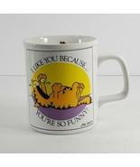 Vtg Garfield Coffee Mug Jim Davis Enesco 1978 like you because you're fu... - $9.90
