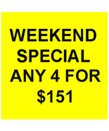 FRI-SUN FLASH PICK ANY 4 FOR $151  DEAL BEST OFFERS DISCOUNT MAGICK  - $0.00