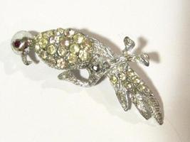 Fabulous vintage jewelry rhinestone Bird pin/brooch - $14.00