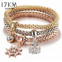 3 PC/Set Crystal Butterful Bracelet&Bangle (13), Fashion Round Charm Pen... - $10.89