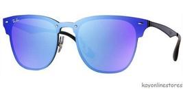 Rayban Blaze Clubmaster Sunglasses RB3576N 153/7V 47 Violet Blue Mirror ... - $149.99