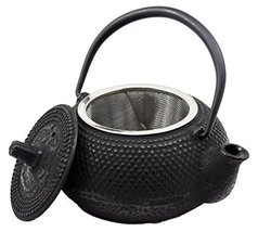 Atlantic Collectibles Small Japanese Tetsubin Black Cast Iron Teapot Imp... - $23.99
