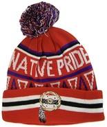 Native Pride Dream Catcher Cuffed Knit Winter Hat Pom Beanie (Red) - $12.95