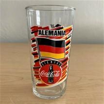 Coca-Cola World Cup USA 94 Germany Alemania Siempre 12 oz Glass Tumbler - $4.95