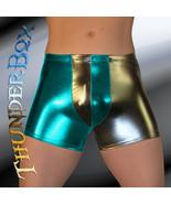 ThunderBox Chrome Gunmetal & Turquoise Harlequin Pouch Shorts S-M-L-XL - $25.00