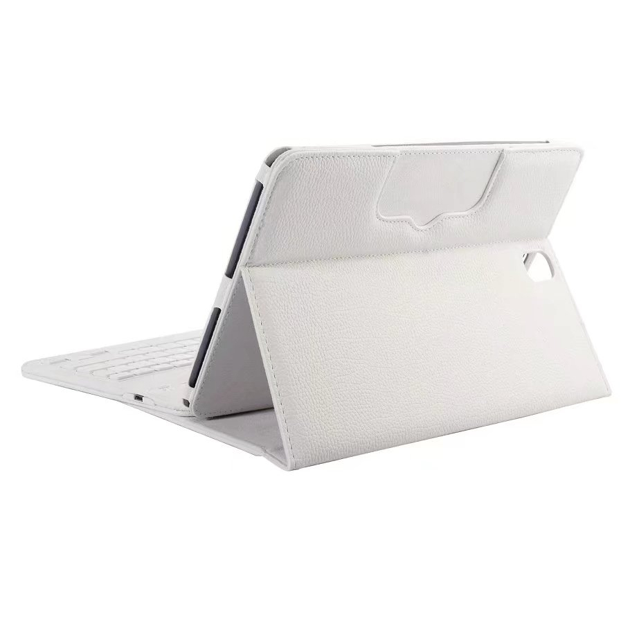 Wireless Keyboard Stand Leather Case for Samsung Galaxy Tab S3 9.7 T820 - White