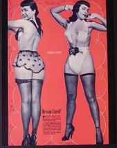 BETTIE PAGE BLOW-UP DOLL ADVERTISEMENT PIN-UP + 1955 BOLD MAGAZINE PHOTO - $11.64