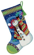 Dimensions Needlecrafts Needlepoint, Happy Snowman Stocking - 71-09143 - $24.99