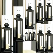10 Lantern Black Candle Holder Wedding centerpieces- Set - $117.00