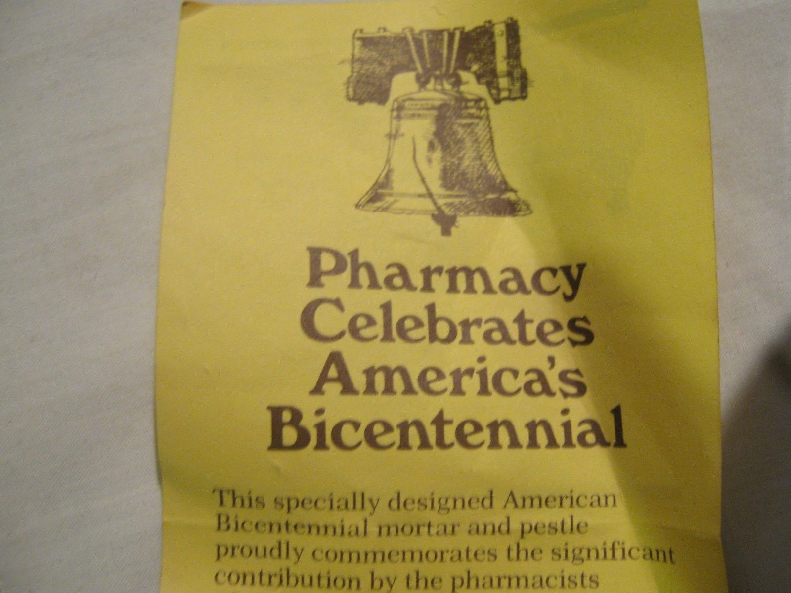 Rx , Pharmacy, Mortar and Pestle ,Collectible , Advertisment Promo