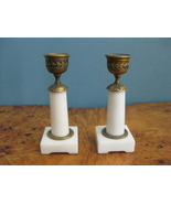 Fine Pair 19th. Century Italian Marble Candle Holders - $785.00