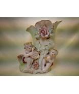 Vintage Royal Ceramic Art Company Handpainted Vase w. Violet Flowers & G... - $29.70