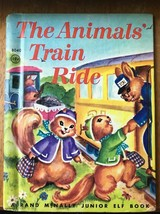Animal Train Ride Rand McNally Junior Elf 8040 Hard Back Childrens Book ... - $4.49