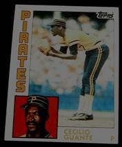Cecilio Guante, Pirates,  1984 #122  Topps Baseball Card GD COND - $0.99