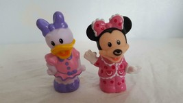 2 Magic Of Disney Fisher Price Little People Minnie Mouse,Daisy Duck,Ware On Nos - $9.89