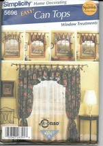 Simplicity #5696 Home Decorating Can Tops Window Treatments - UNCUT - $9.90