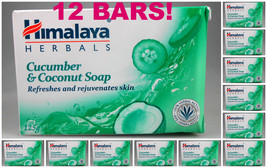 12 BARS! Himalaya Herbals Cucumber & Coconut Soap 125gm Refreshes  USA S... - $36.00