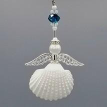 Birthstone Holiday Decor Seashell Angel Christmas Ornament. - $16.94