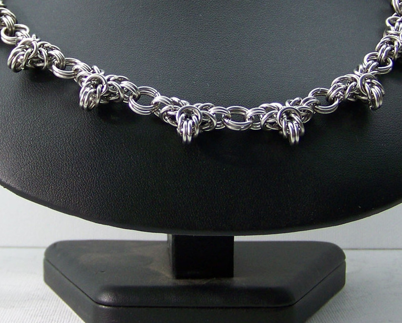 Jewelry By Two Gems (C46) Stainless Steel Byzantine Lace Chainmaille