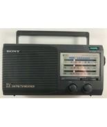 SONY ICF-34 RADIO WEATHER FM AM AC/DC TV Sound - $29.69