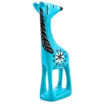 Tabaka Chigware Hand Carved Kisii Soapstone Light Blue Giraffe Figurine Kenya image 5