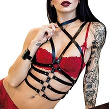 Homelix Women Punk leather Bra Harness Body Caged Cupless Strappy Linger... - $23.69