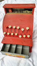 ANTIQUE TOM THUMB METAL CASH REGISTER TOY WESTERN STAMPING COMPANY 1940s... - $38.65