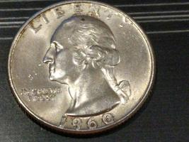 1960 D Quarter...AU??? Nice Luster - $5.45