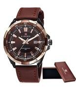 Brand Men's Fashion Casual Sport Watches Men Waterproof Leather Quartz W... - $34.54
