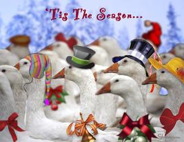 Gaggle O' Greetings: Unique Blank Christmas Card - $5.00